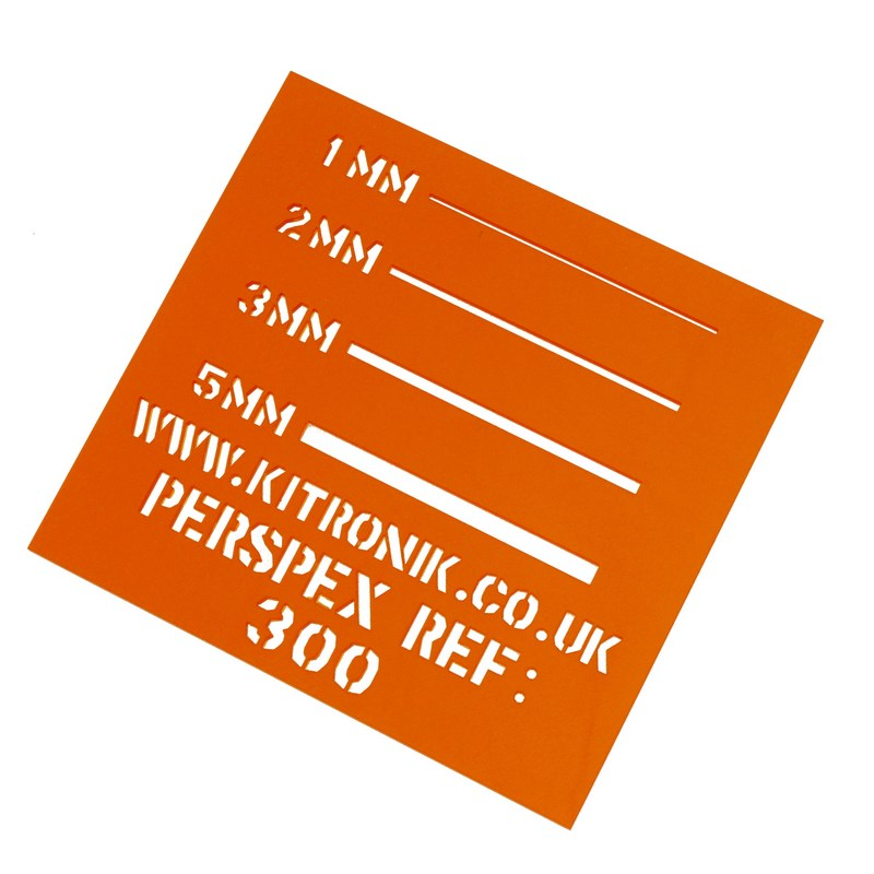 Perspex Sheet (Transparent) 3mm x 600mm x 400mm