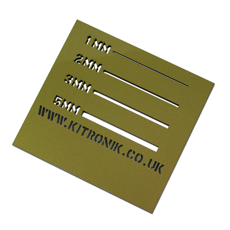 large gold duo perspex 3mm x 600mm x 400mm