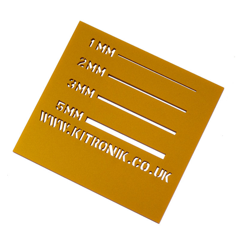large queen marie gold royal perspex sheet 3mmx x 600mm x 400mm