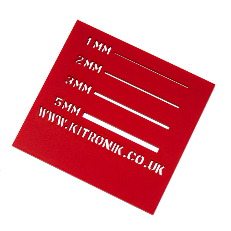 large king henry red royal perspex sheet 3mmx x 600mm x 400mm