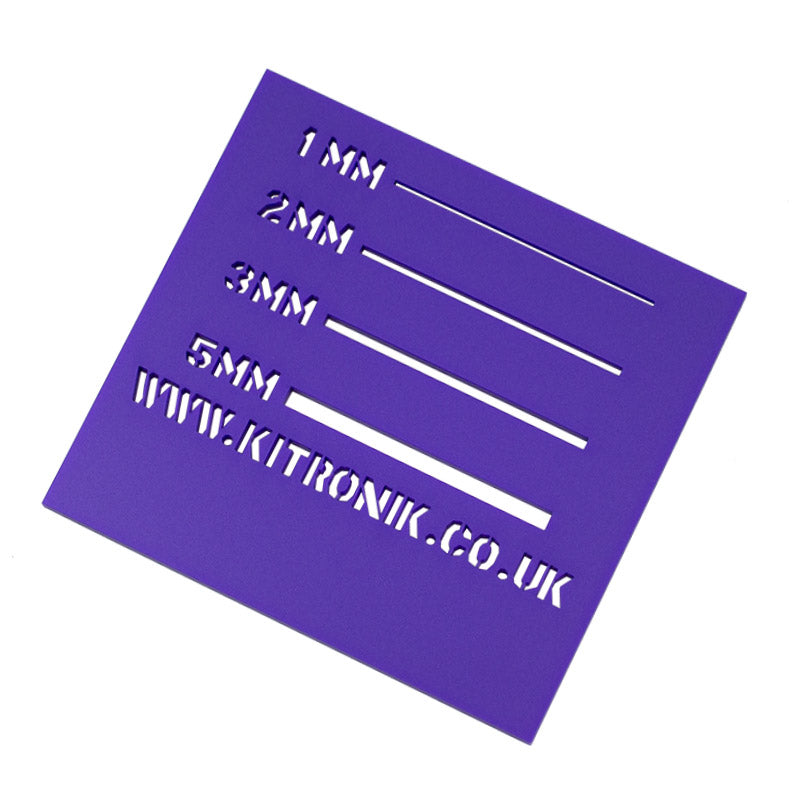 large king george purple royal perspex sheet 3mmx x 600mm x 400mm