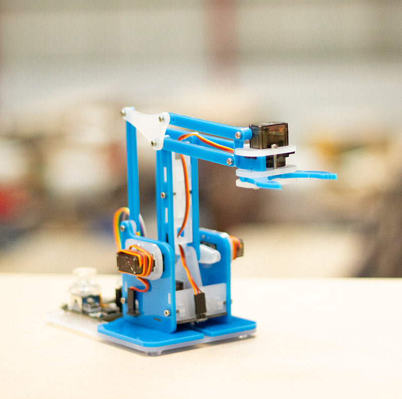 additional mearm classic transparent blue robot arm