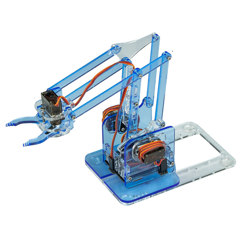 large mearm classic transparent blue robot arm