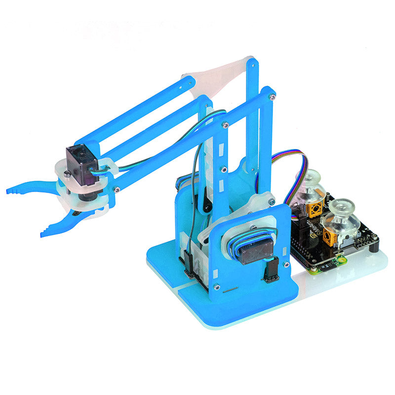 large mearm raspberry pi transparent blue robot arm