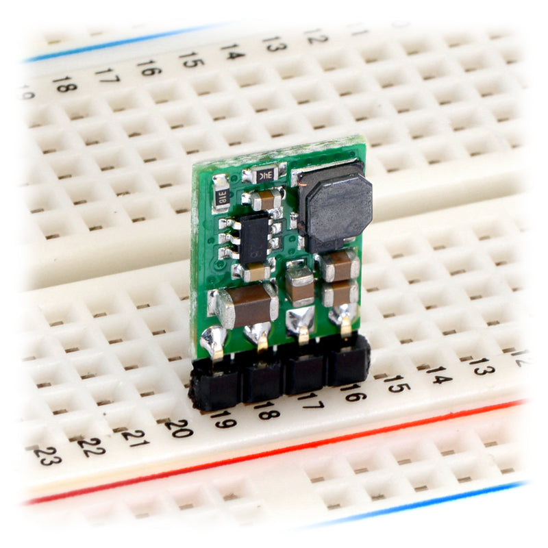 additional 5v step down voltage regulator breadboard