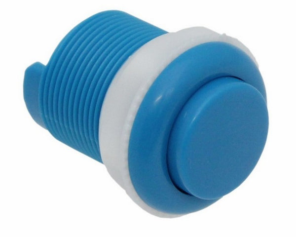 large 33mm push button blue