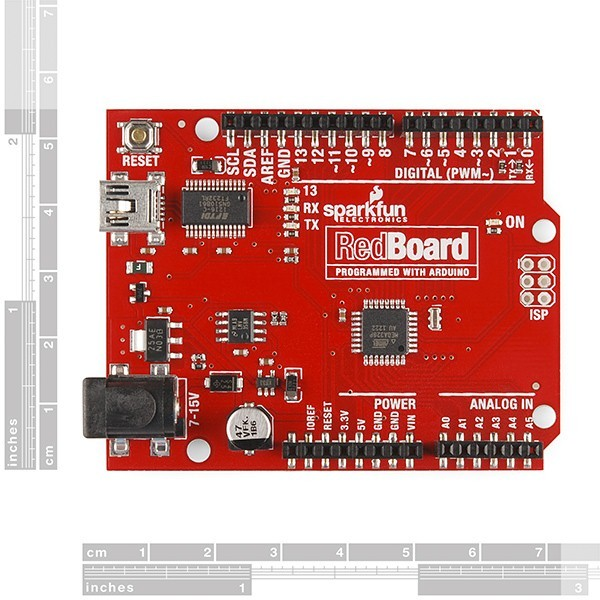 additional redboard programmed with arduino dimensions