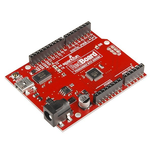 large redboard programmed with arduino