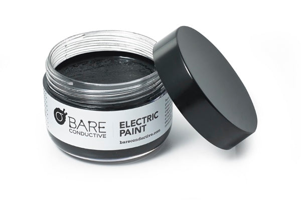 additional bare conductive electric paint pot open
