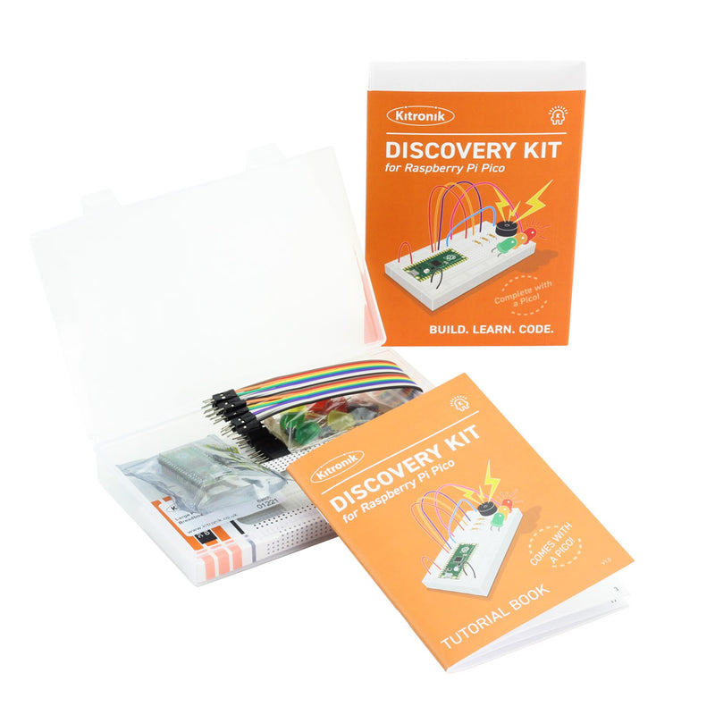 Kitronik Discovery Kit for Raspberry Pi Pico (Pico Included) box contents