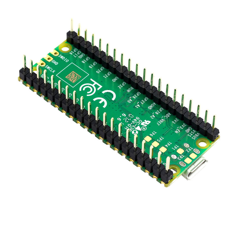 Rapsberry Pi Pico with Pin Headers - Assembled back