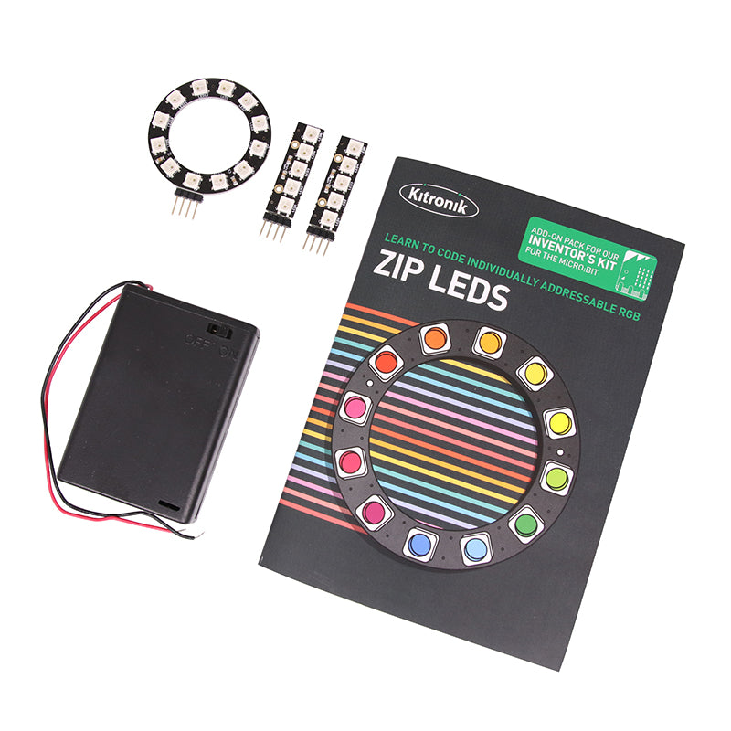 zip large zip led add on inventors kit microbit hero