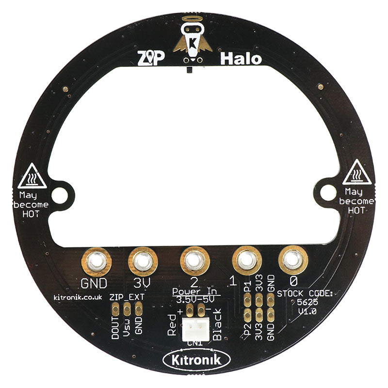 additional zip halo for the bbc microbit back