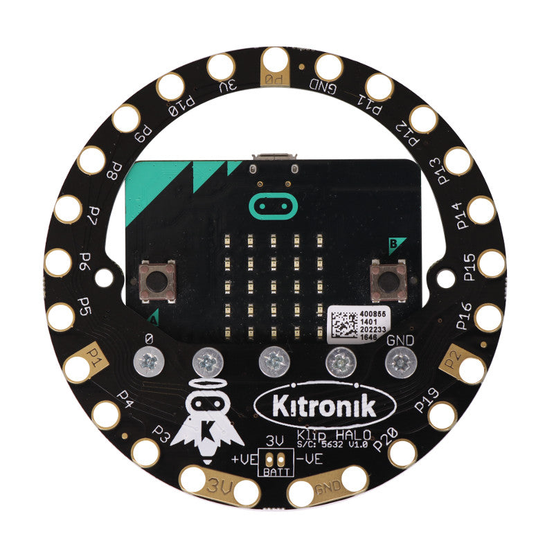 additional klip halo for the bbc microbit c attached