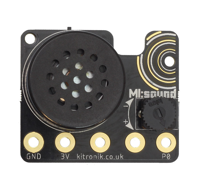additional mi sound speaker microbit cr2032 front