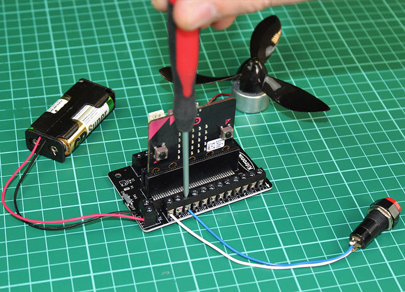 additional kitronik terminal breakout board microbit connected