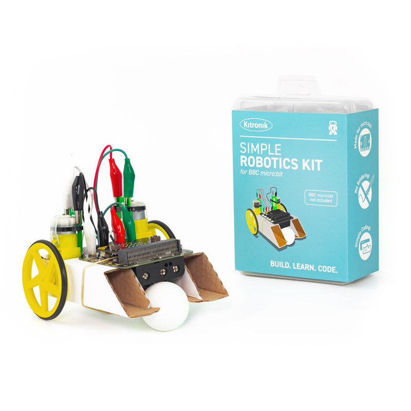 large simple robotics kit microbit klip tt motor robot build1