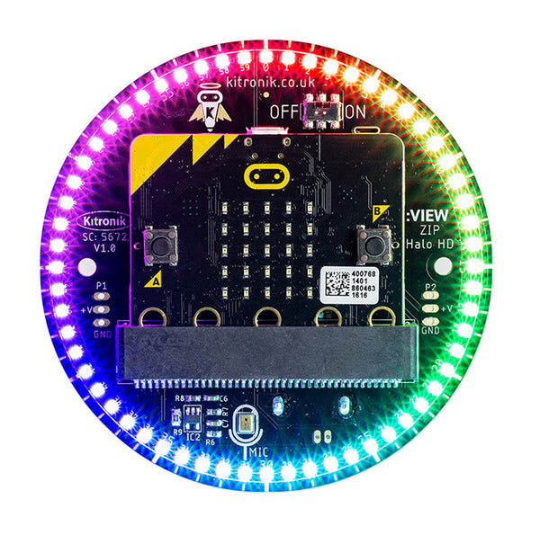 large kitronik halo hd microbit leds illuminated