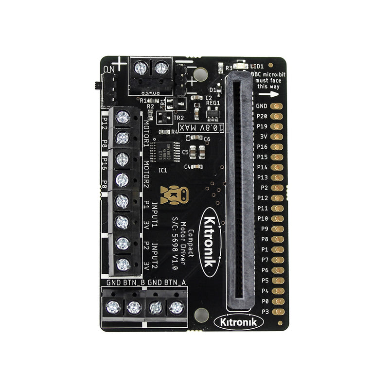 compact motor driver board for microbit additional 2