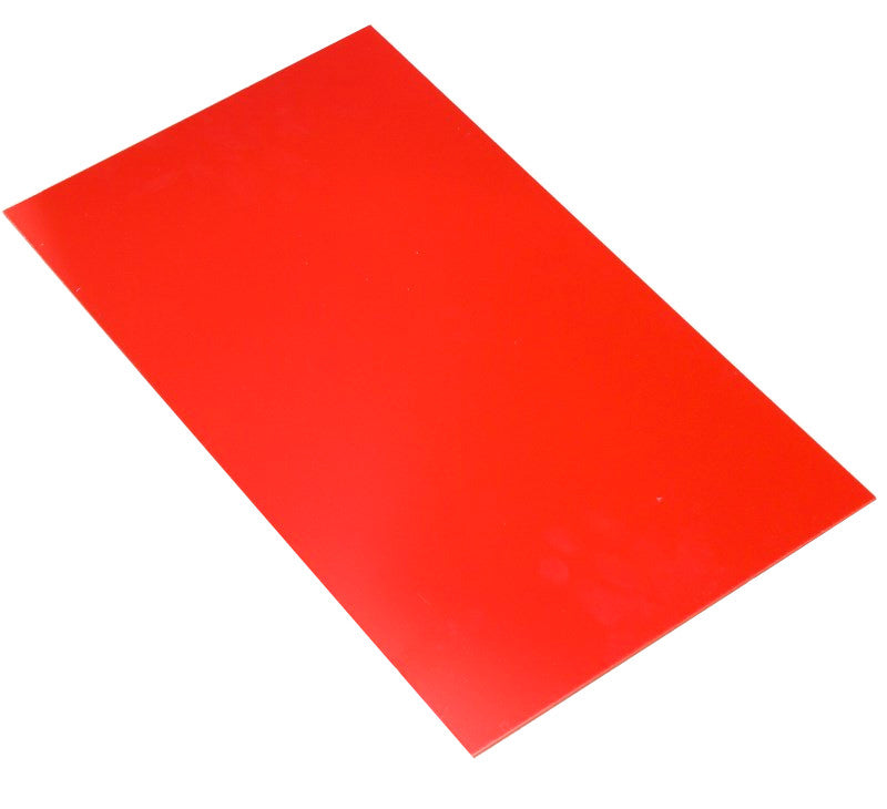 large hips high impact polystyrene sheet red