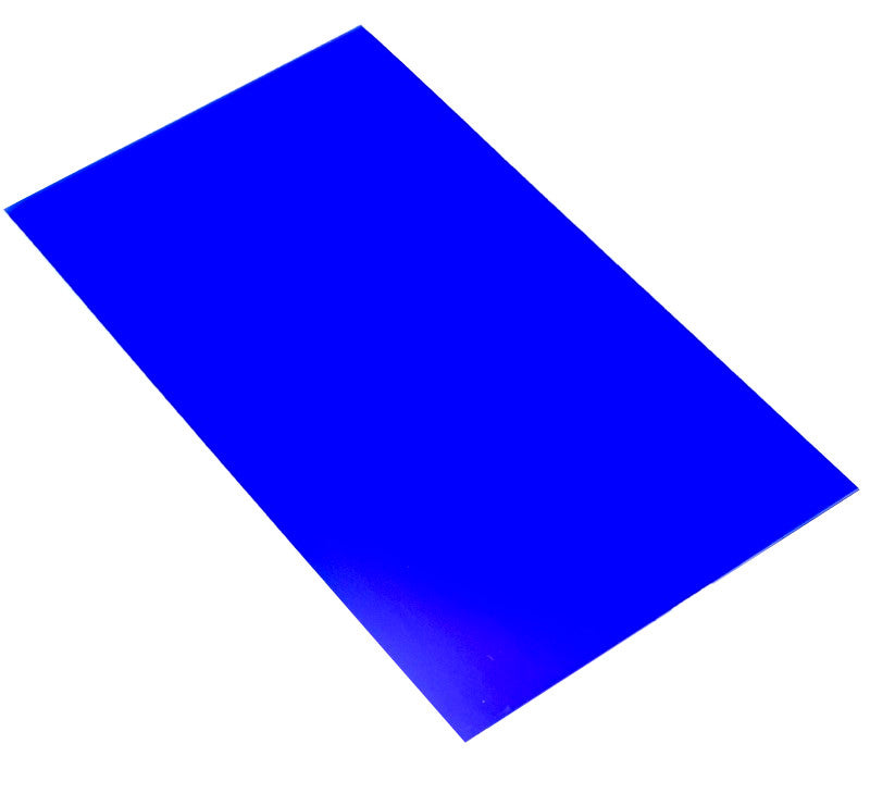 large hips high impact polystyrene sheet blue