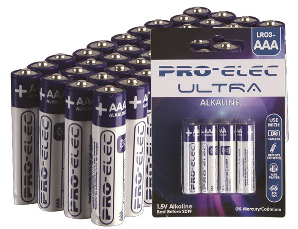 large pro elec alkaline aaa battery