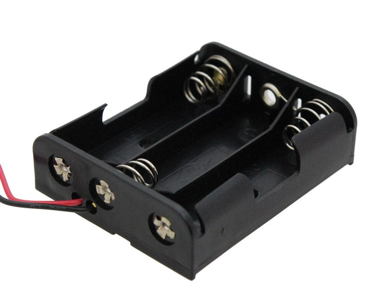 large 3x aa battery holder with wires