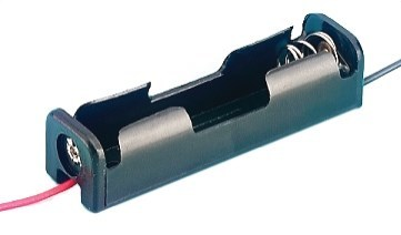 large aa battery holder with leads