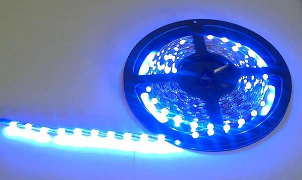 large blue light strip