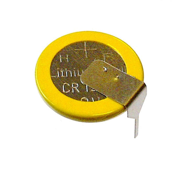 large CR1220 PCB mount battery with pins