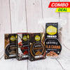 Daily Essentials Combo Pack - (Kala Chana Whole, Garam Masala, Red Chili, Cumin)
