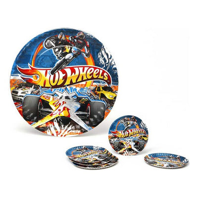 Set aus 5 Tellern Hot Wheels Pappe 113660