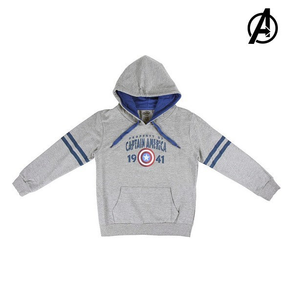 Unisex Sweater mit Kapuze The Avengers 74133 Grau Grau