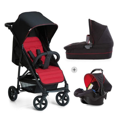 Kinderwagen für Babys Rapid 4 Plus 0-25 kg 3 in 1 Schwarz/Rot (Refurbished A+)
