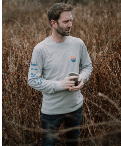 NEW - SELKIE SUNRISE LONG SLEEVE TEE IN MARL GREY