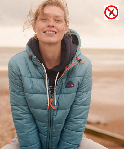 WOMEN'S PUFFER JACKET - TEAL