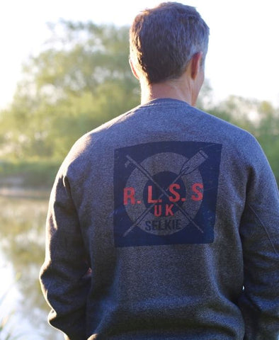 MEN'S RLSS SUPPORTER CREWNECK SWEATSHIRT - CHARCOAL GREY