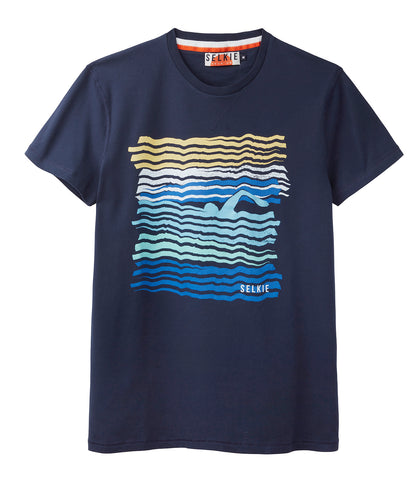MEN'S WAVE TEE - NAVY