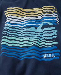 MEN'S WAVE TEE - NAVY - shirt