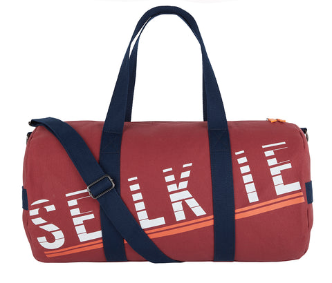 CANVAS BARREL BAG - BURGUNDY