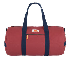 CANVAS BARREL BAG - BURGUNDY - bag