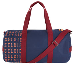 CANVAS BARREL BAG - NAVY with Logo - bag
