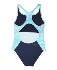 WOMEN'S BLADEBACK COSTUME - LIGHT BLUE RIPPLE DESIGN - Sports Costume