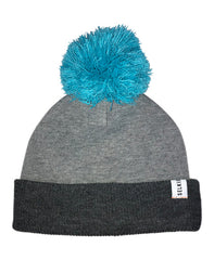 BOBBLE HAT - TWO TONE GREY - hat