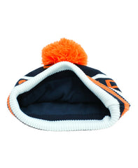 BOBBLE HAT - NAVY & ORANGE - hat