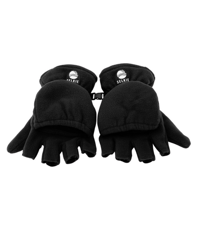 SELKIE GLOVES/MITTENS - BLACK