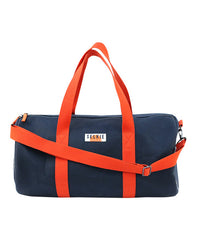 CANVAS BARREL BAG - NAVY - bag