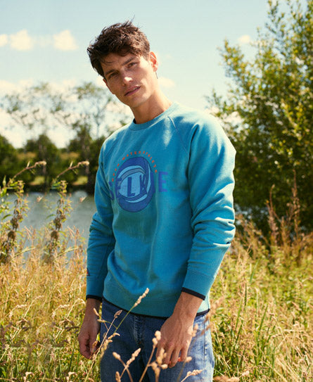 MEN'S CREW NECK SWEATSHIRT - TEAL - sweats