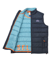 MEN'S GILET - NAVY - jacket