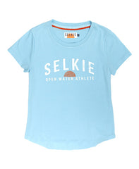 WOMEN'S OPEN WATER TEE AQUA - shirt